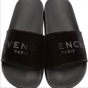 8fefc36b7242 Givenchy Shoes - 💯authentic Givenchy slides in soft black velvet😍
